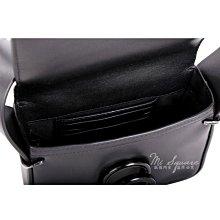 米蘭廣場3.1 Phillip Lim Alix Flap 黑迴紋針造型斜背包(Mini/黑色) 1710992-01