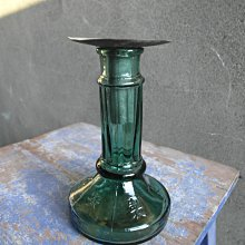早期老玻璃油燈--安全燈-----------------高13公分