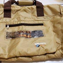 DISCOVERY 特製可折疊鋪棉 手拿包 側背包 斜背包 帶子可調整長度且有加強軟墊 裡面有大拉鍊袋前有拉鍊各有一袋子