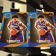 17 18 Donruss - DeAaron Fox 2張新人RC正規卡