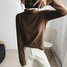 NANAS【M9192】9色推薦!!~chic韓國百搭軟綿綿半高領針織衫 特價 預購