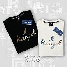 【RTG】KANGOL 短T 草寫 彩色字體 休閒 英國 袋鼠 棉質 黑 6021103020 米 6021103001