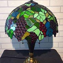 KIPO-熱銷葡萄珠子手工彩色玻璃檯燈 雙頭拉鍊開關 臥室客廳裝飾燈具-AMF005104A