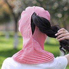 【優選】防曬口罩女護頸戴帽子騎車薄款防紫外線遮臉全臉可水洗遮陽透氣