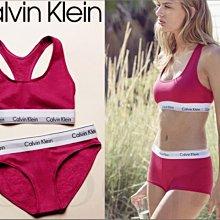 成套現貨CK Calvin Klein卡文克萊玫瑰紅色運動風瑜珈小可愛挖背內衣+平口內褲一組L M S號愛Coach包包