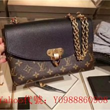里昂二手正品  LV LOUIS VUITTON SAINT PLACIDE M43713 M43715 鏈條包 肩背包
