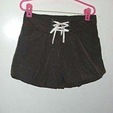 潮流帥衣 韓風鐵灰色水蜜桃絲設計款高束腰綁帶造型性感燈籠短褲 腰圍26吋-32吋定字櫃D