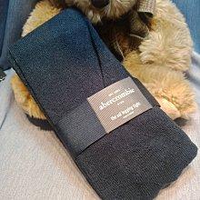 (雅峰精品)ABERCROMBIE & FITCH打底褲保暖黑色毛襪 褲襪