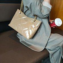 ⭐️Pat girl⭐️韓國同步 頭層油蠟牛皮小CK款鏈條 單肩包 H81079 超優質賣家⭐️拍拍妞⭐️
