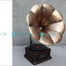 KIPO-攝影道具 歐式 老式留聲機 復古留聲機 鄉村風家飾 HFB0140B2A