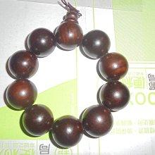 木製咖啡暗紅手珠 約25MM 念珠手飾品 10顆