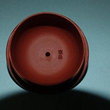 (三包)中國宜興中國工藝美術大師鮑志強早期文革前1961年220CC全手工福記八方半月高檔朱泥紫砂壺