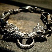 Alarein|手工銀飾|騎士系列|手鍊|Trapped Wolf