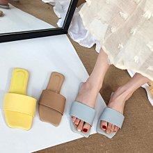 平底拖鞋涼鞋穆勒 法式糖果色平底涼拖鞋 艾爾莎 【TSB8834】
