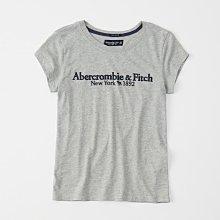 Maple麋鹿小舖 Abercrombie&Fitch * AF 灰色電繡字母麋鹿短T* ( 現貨XL號 )