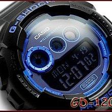 【美國鞋校】現貨CASIO G-Shock GD-120N-1B2 大錶徑 手錶 GD-120N 螢光藍 鷹眼