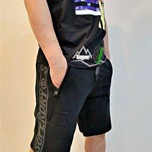 「i」【現貨】極度乾燥 Superdry 黑 拉鍊口袋 短褲 內刷毛 短棉褲