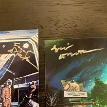 1994 & 1997 Vincent Di Fate 美國幻想現實空間插圖藝術家 親筆簽名 收藏卡 卡片 共2張