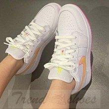 Nike Air Jordan 1 Low AJ1 復古 低幫 白黃 糖果色 運動 滑板鞋 CV4610-100 女鞋