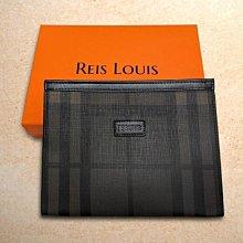 【REIS LOUIS 李斯路易斯】防刮經典格紋男士三角手拿包 RL805(防刮經典格紋系列 )(原價11800)