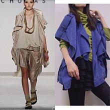 Nicholas K 全新真品主打款紫羅蘭麂皮感oversize 斗篷外套罩衫 超美品