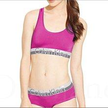 整套 CK Calvin Klein卡文克萊 桃紅色瑜珈運動內衣休閒性感挖背小可愛內衣+平口內褲 兩件一組 S M L號