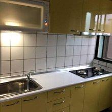 名雅歐化廚具225公分美耐檯面+上櫃F1木心桶身+下櫃F1木心桶身+四面封美耐門板
