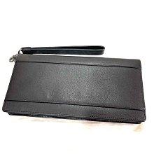 TUMI 全皮 皮革手拿包 長皮夾 可放進一本護照尺寸 皮革手把 黑色全皮材質 美國官網購入 現貨在台一個 全新正品