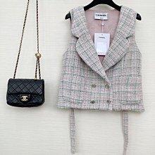 香奈兒 Chanel 新款 法式復古清新風 氣質馬甲 背心 小外套 百搭微短款更顯年輕拉長身型 可單穿可疊穿 SML