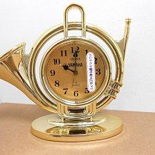【CITIZEN 時計】星辰 CITIZEN 4RM641 法國號造型桌鐘/鬧鐘