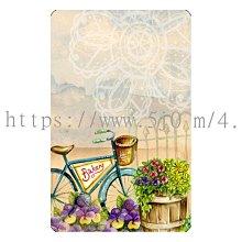 〈亮晶細沙 卡貼 貼紙〉單車 花籃  貼紙 悠遊卡貼紙