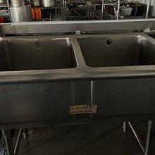 達慶餐飲設備 八里展示倉庫 二手設備 304双口深槽