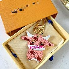 ♥空姐精品♥新品 L家驢家同款 牛年限定超萌粉色小牛鑰匙圈 包包掛飾