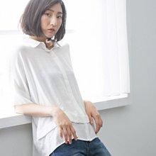 轉賣*Line up Wears蝙蝠袖層次衣擺柔軟寬鬆素面襯衫~白色