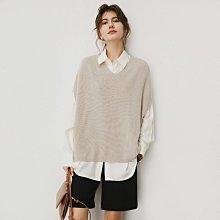 針織背心 DANDT 時尚馬甲針織落肩背心(20 SEP)同風格請在賣場搜尋 SHA 或 歐美服飾