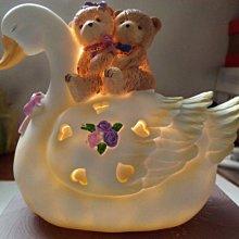 幸福熊天鵝燈飾(全新)