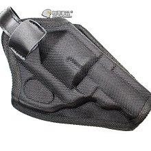【翔準軍品AOG】左輪 四吋 槍套 帆布 黑色 手槍 瓦斯槍 圓扣 魔鬼沾 CWE-100-9