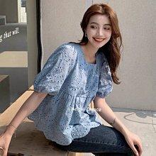 *Angel  Dance*短袖蕾絲上衣(2色)@韓國 甜美小清新 圓領 泡泡袖 雪紡 OL 白襯衫 娃娃衫@現貨+預購