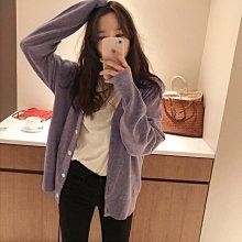 *The Girl *紫色V領針織外套【A17749】