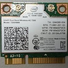 Intel 雙頻 Wireless - AC 7260 無線網卡 802.11 ac/a/b/g/n 867Mbps