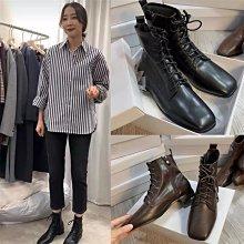 韓國短靴 DANDT 秋冬復古方頭側拉鍊軟面馬丁靴 (20 AUG) 同風格請在賣場搜尋 SGS 或 韓國鞋款