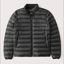 Abercrombie and Fitch A&F 黑色立領保暖外套 科技羽絨材料 防潑水設計 中厚度保暖外套 全新正品 現貨在台 原價120塊美金 M號