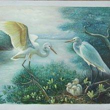 古 藝 閣 大 陸 著名畫家y.dong 仙鶴一家親