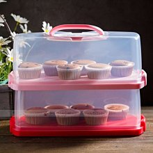 【嚴選SHOP】BreadLeaf 長方塑料蛋糕捲盒 環保PP便攜式手提盒 烘焙包裝盒 吐司麵包盒 自扣提盒【B114】