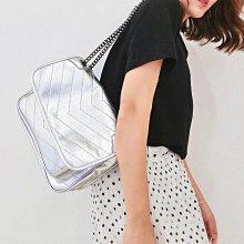 歐美時尚新款正牛皮大容量單肩包 單肩女包 斜背包 斜跨包 手提包 真皮 鏈條包 鍊條包