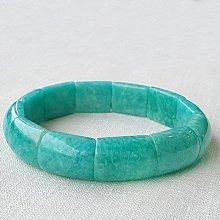 ☆采鑫天然寶石☆ **春意**頂級水潤光感藍綠變色帶銀粉天河石版環(手環&手鍊)~