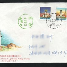 【萬龍】(597-3)(常110-3)二版燈塔郵票(續)套票實寄封