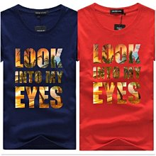 KAOS WANITA TRENDY CK200601	LOOK INTO MY EYES 男 短袖 t恤