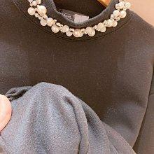 【莉莎小屋】正韓 秋冬新品(現貨) 💝韓國連線代購-珍珠領袖內毛棉料上衣👚👖TS210120