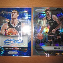 網拍讀賣~Brook Lopez~籃網隊球星~羅培茲~藍亮限量簽名卡/199~auto~平行亮卡~普特卡~共2張~